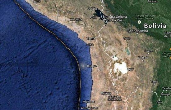 El tsunami puede afectar a zonas de Perú,  Ecuador y Hawaii.