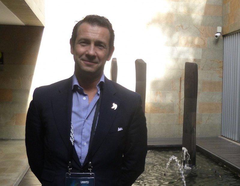 Antonio López de Ávila, presidente de Segittur, en el centro de convenciones de Medellín donde se ha celebrado la asamblea general de la OMT.
