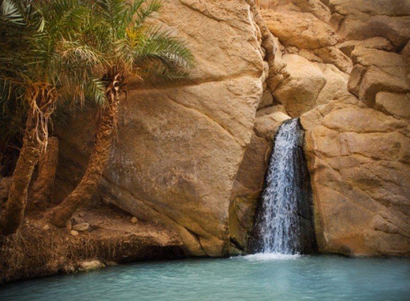 El oasis de montaña de Chebika, Túnez. #shu#