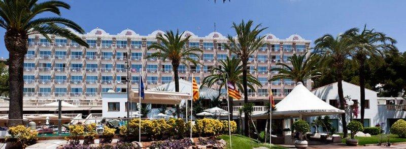El Hotel Galdana, uno de los más emblemáticos de la isla.