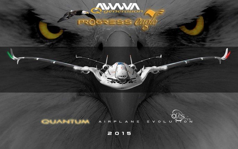 El futurista AWWA-QG Progress Eagle, concepto del diseñador barcelonés y entusiasta de la aviación Oscar Viñals.