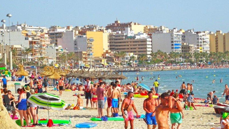 La Playa de Palma es una de las zonas más masificadas.