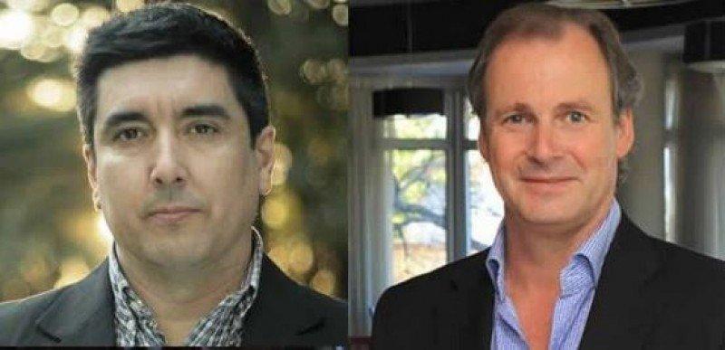 Adrián Fuertes (candidato UP) y Gustavo Bordet (candidato FPV).