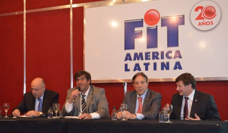 De izq a der: Enrique Pepino (Ferias Argentinas); Fabricio Di Giambattista (FAEVYT); Oscar Ghezzi (CAT); Horacio Repucci (CAT).