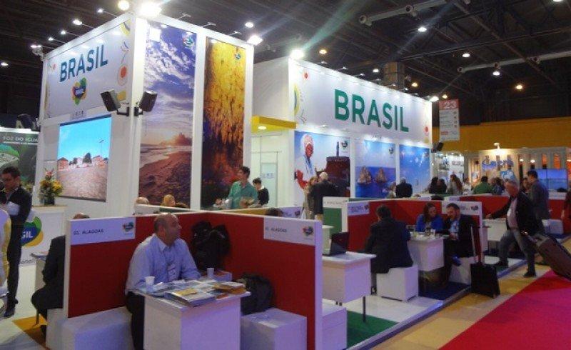 Stand de Brasil en la Feria Internacional de Turismo de Argentina.