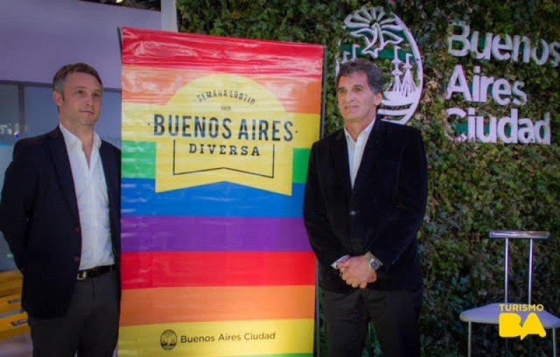 Claudio Avruj, Subsecretario de Derechos Humanos y Pluralismo Cultural y Fernando de Andreis, presidente del Ente de Turismo de Buenos Aires.