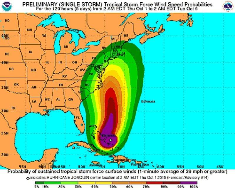 El huracán Joaquín barre las Bahamas y pone en alerta a Nueva York