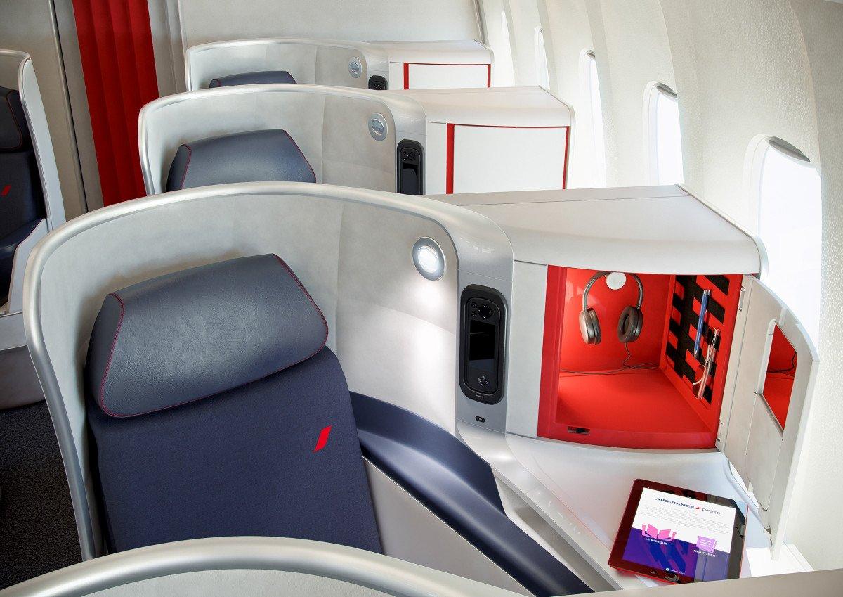 La nueva butaca de la clase Business de Air France está equipada con las últimas tecnologías.