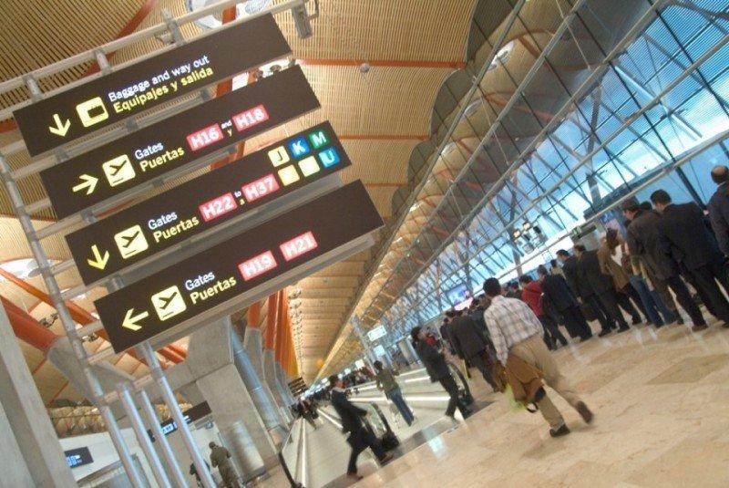 Madrid-Barajas, quinto aeropuerto de Europa en número de pasajeros.