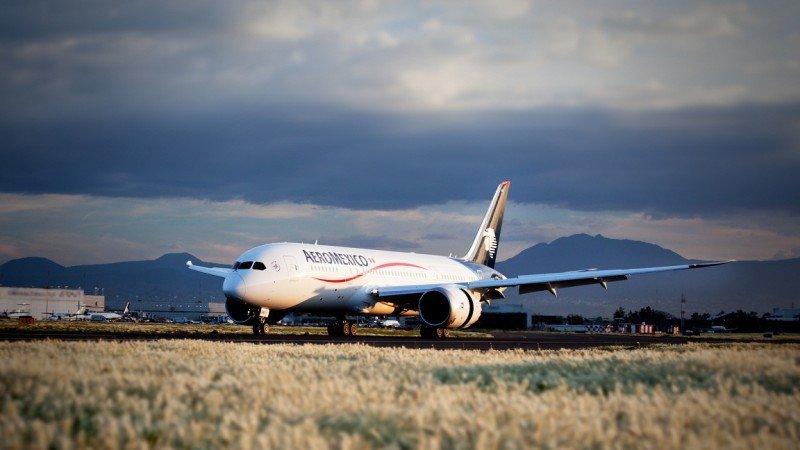 El Boeing 787 DReamliner de Aeroméxico.