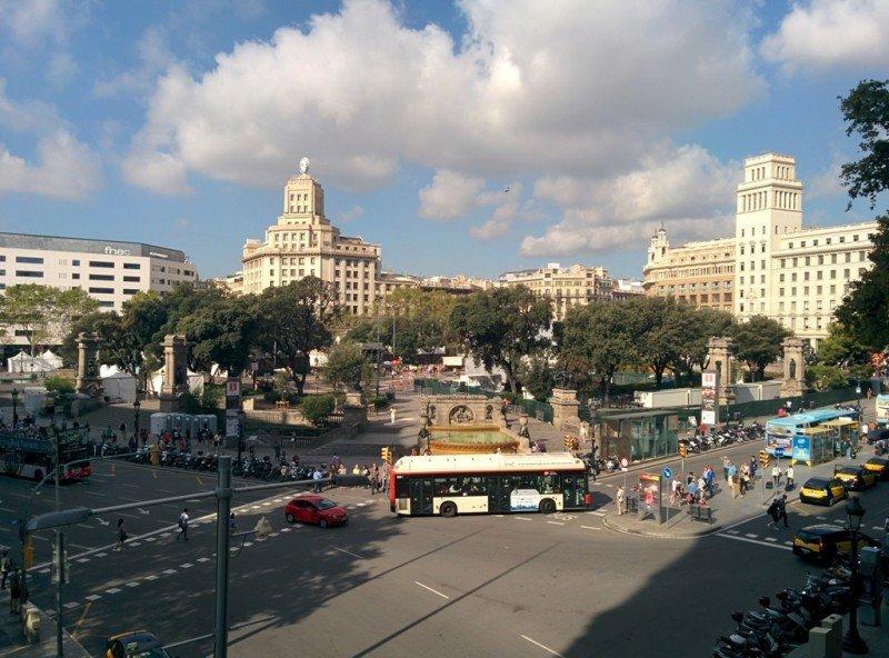 Imagen del centro de Barcelona.