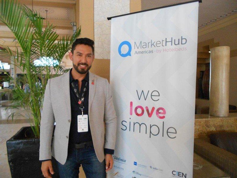 Leonel Reyes, director corporativo de Ventas de Hard Rock Hotels para Latinoamérica, en el MarketHub de Hotelbeds en Los Cabos.