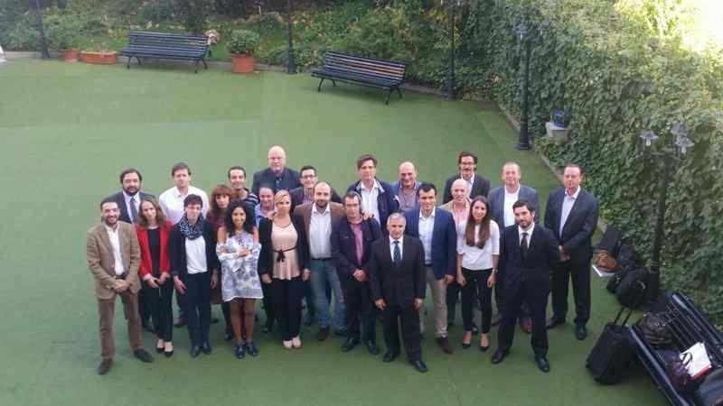 Imagen del comité de empresa europeo de NH. Foto: CCOO.