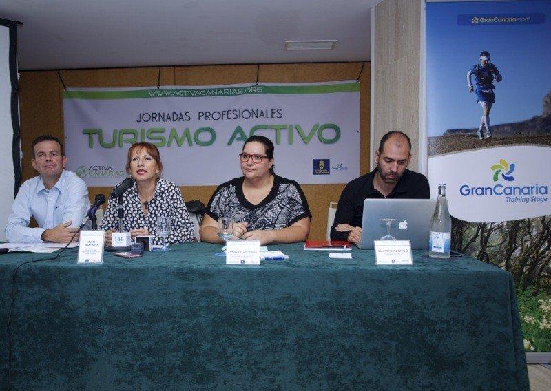 Presentación de las jornadas de turismo activo en Gran Canaria.