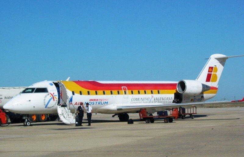 El Bombardier CRJ 200 de Air Nostrum.
