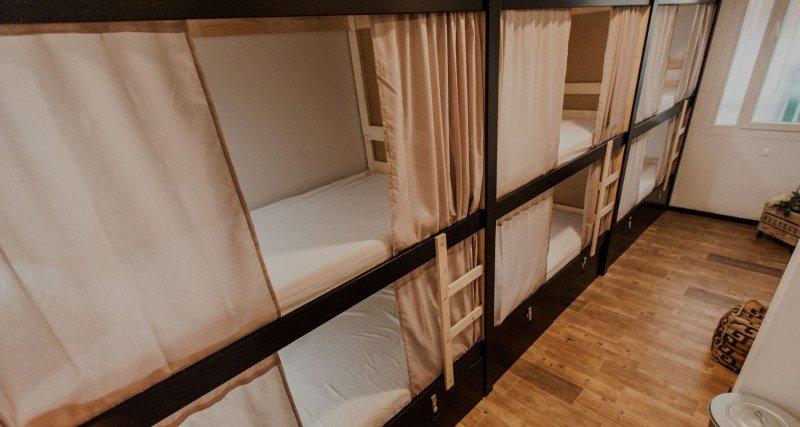 Imagen de una de las habitaciones del hostel Tarifa Sulok.