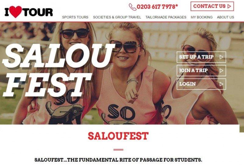Web de I Love Tours, del grupo TUI.