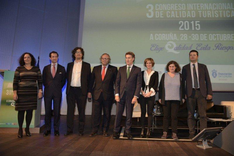 Un momento del II Congreso Internacional de Calidad Turistica, que se ha celebrado en el Palacio de Exposiciones y Congresos de A Coruña (Palexco).