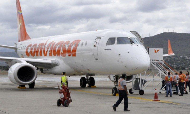 Denuncian suspensión de vuelos de Conviasa a España y Argentina