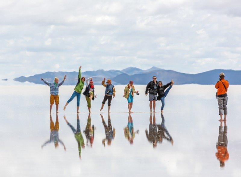 Salar de Uyuni, en Bolivia, Patrimonio de la Humanidad declarado por UNESCO. #shu#