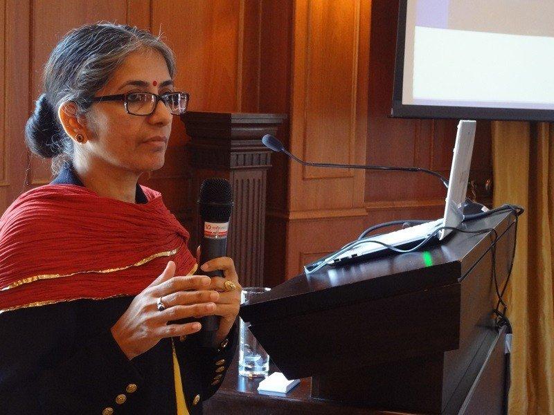 """La representante de la India señaló que """"la India no es un lugar que puede ser explicado, es necesario vivir la experiencia""""."""