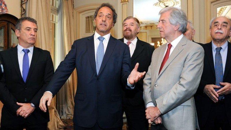 Daniel Scioli visitó a Tabaré Vázquez. Foto: Presidencia de Uruguay