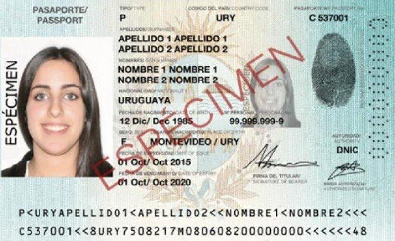 Así será el nuevo pasaporte electrónico uruguayo.