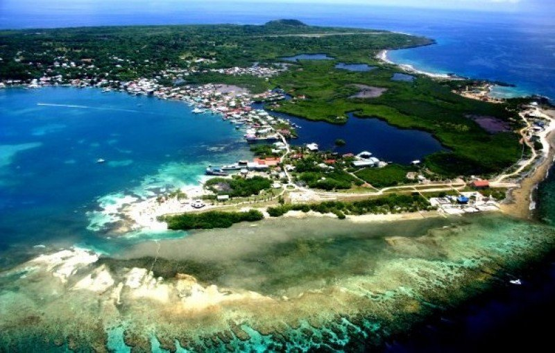 Isla de Utila, en el Caribe hondureño.
