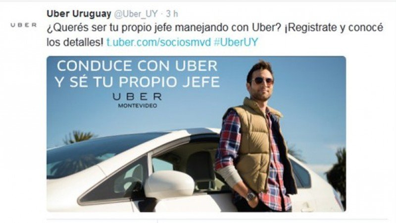 Uber llama a conductores en Uruguay y desata polémica