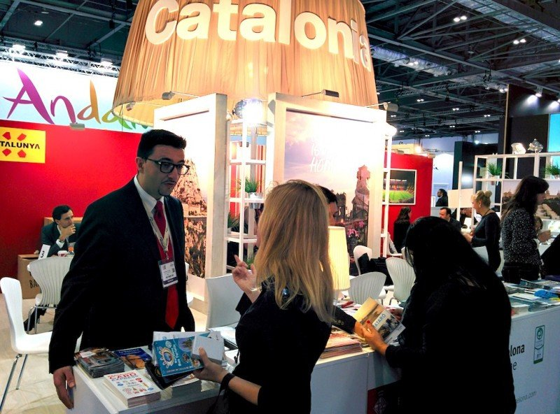 Estand de Cataluña en la feria World Travel Market.