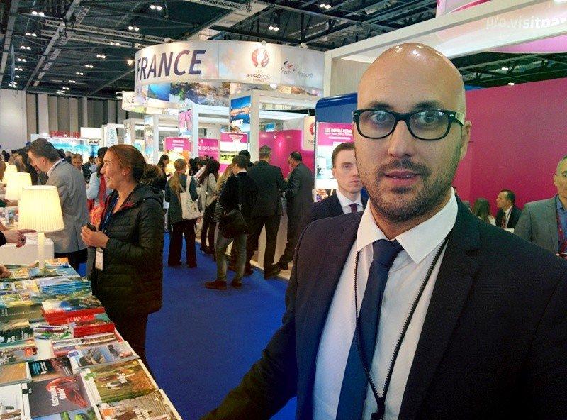 Jaume Dulsat, alcalde de Lloret de Mar, en la feria World Travel Market de Londres.