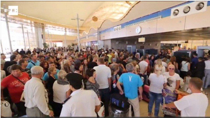 Caos en el Aeropuerto de Sharm El Sheikh.