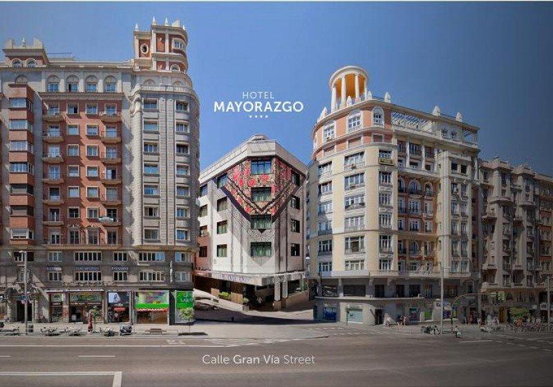 Fachada del Hotel Mayorazgo a la Gran Vía.