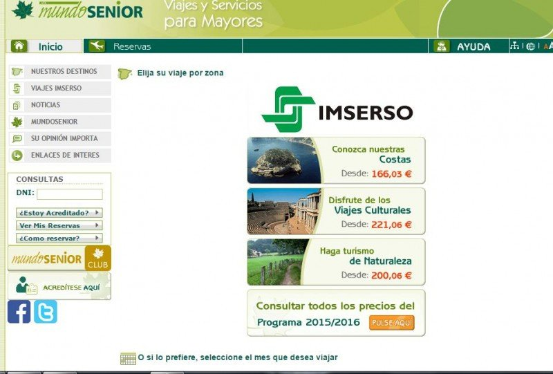 Web de Mundosenior a partir de la tarde del miércoles 11 de noviembre.