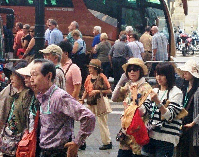 Turistas asiáticos en Barcelona, el pasado septiembre.