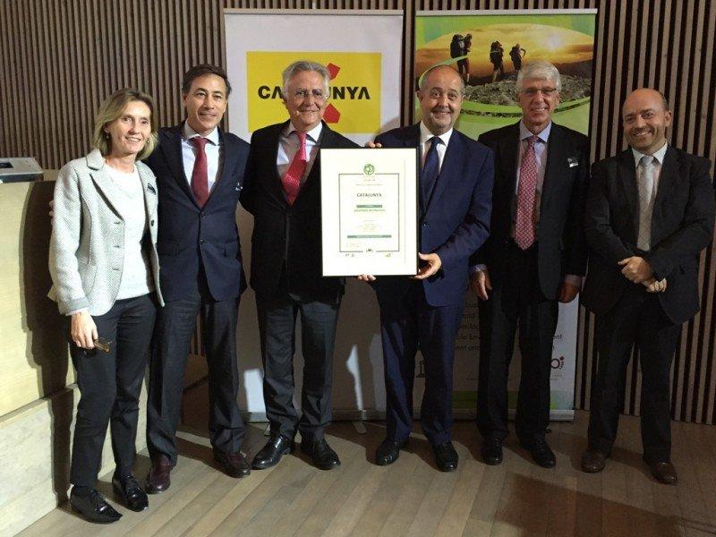 Entrega del sello de turismo responsable a Cataluña.