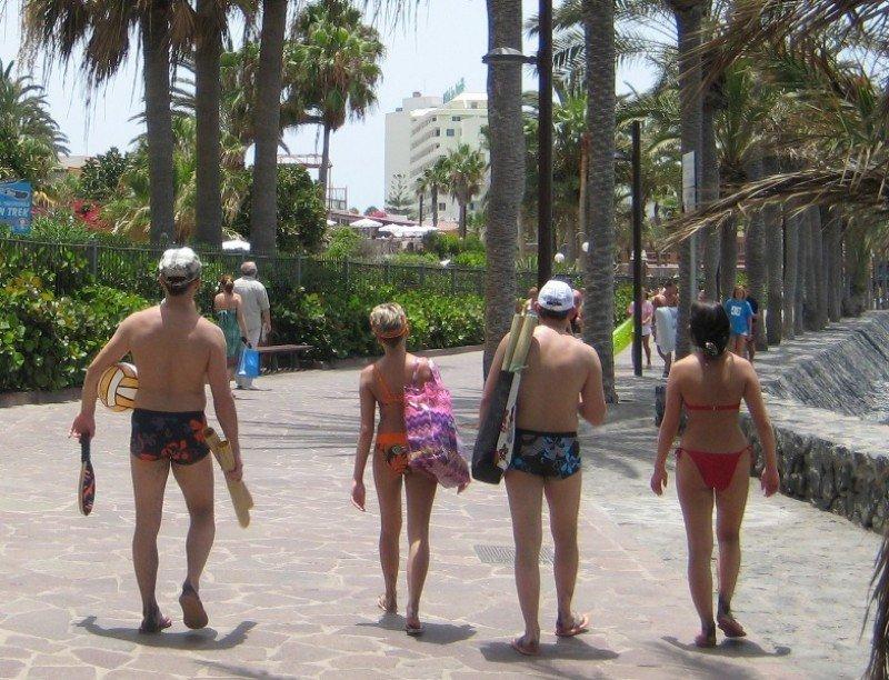 Turistas en Tenerife.