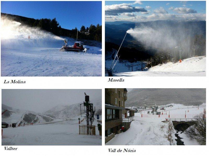 Imágenes de varias estaciones de esquí catalanas captadas el 24 de noviembre.