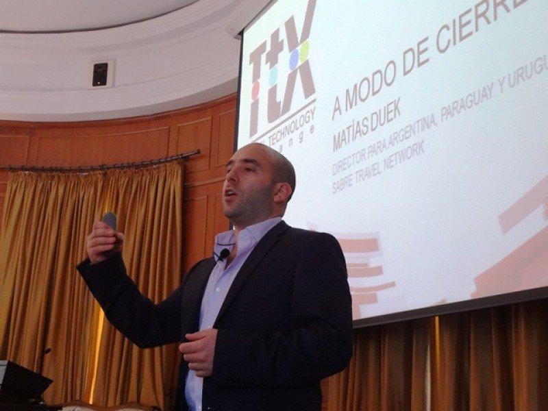Matías Duek, country manager de Sabre para Argentina, Uruguay y Paraguay, en la presentación en Montevideo.