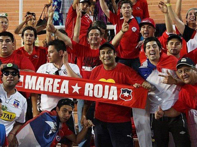 Esperan unos 4.000 hinchas de Chile en Montevideo