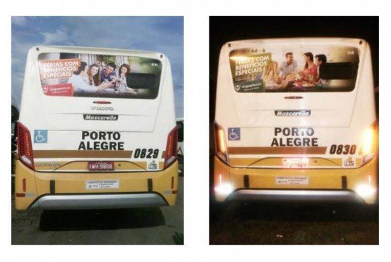 Ómnibus en la ciudad de Porto Alegre.