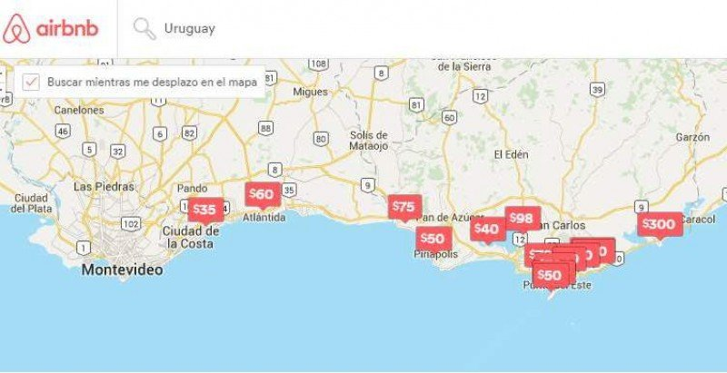 Se duplica la oferta de Airbnb en Uruguay en un año