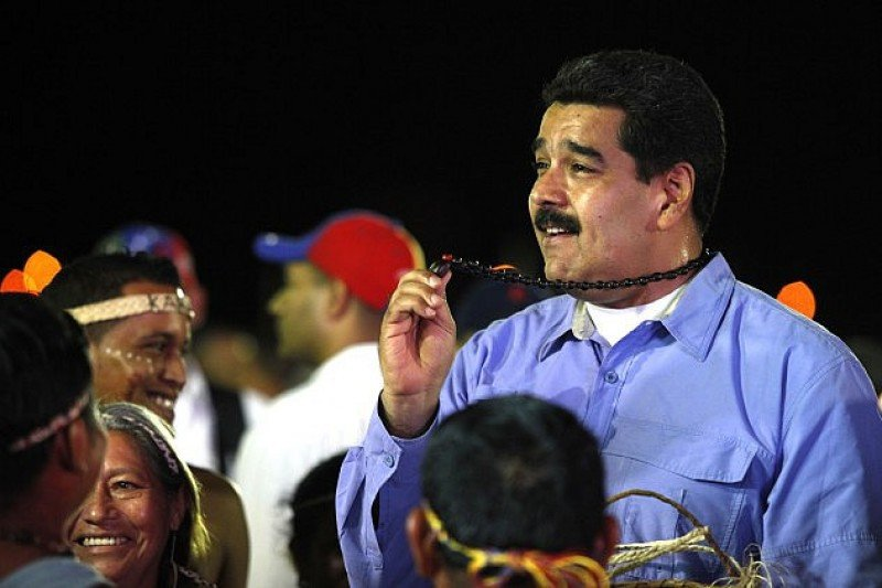 El presidente Maduro en la inauguración de la Feria FitVen 2015.