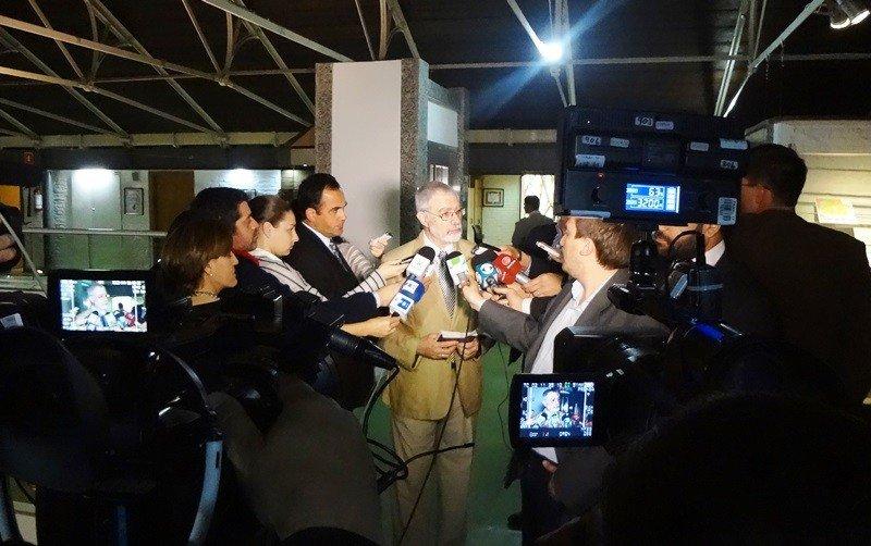 Rueda de prensa de Benjamín Liberoff.