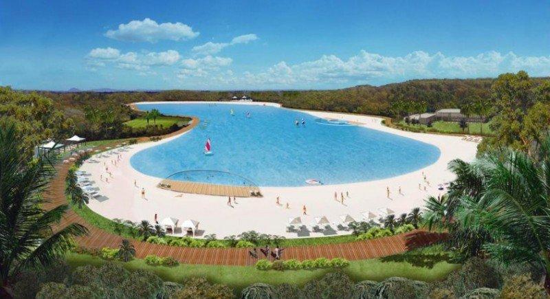 La laguna tendrá 300 metros de largo.