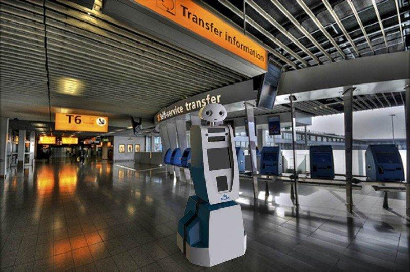 El robot Spencer guiará a los viajeros por el Aeropuerto de Asterdam-Schiphol, hub de la aerolínea.