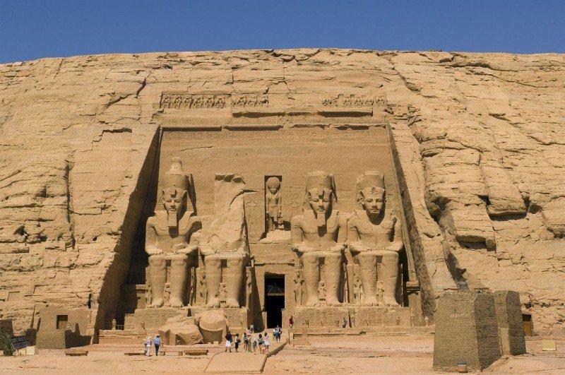 Templo de Ramses II en Abu Simbel, Egipto.
