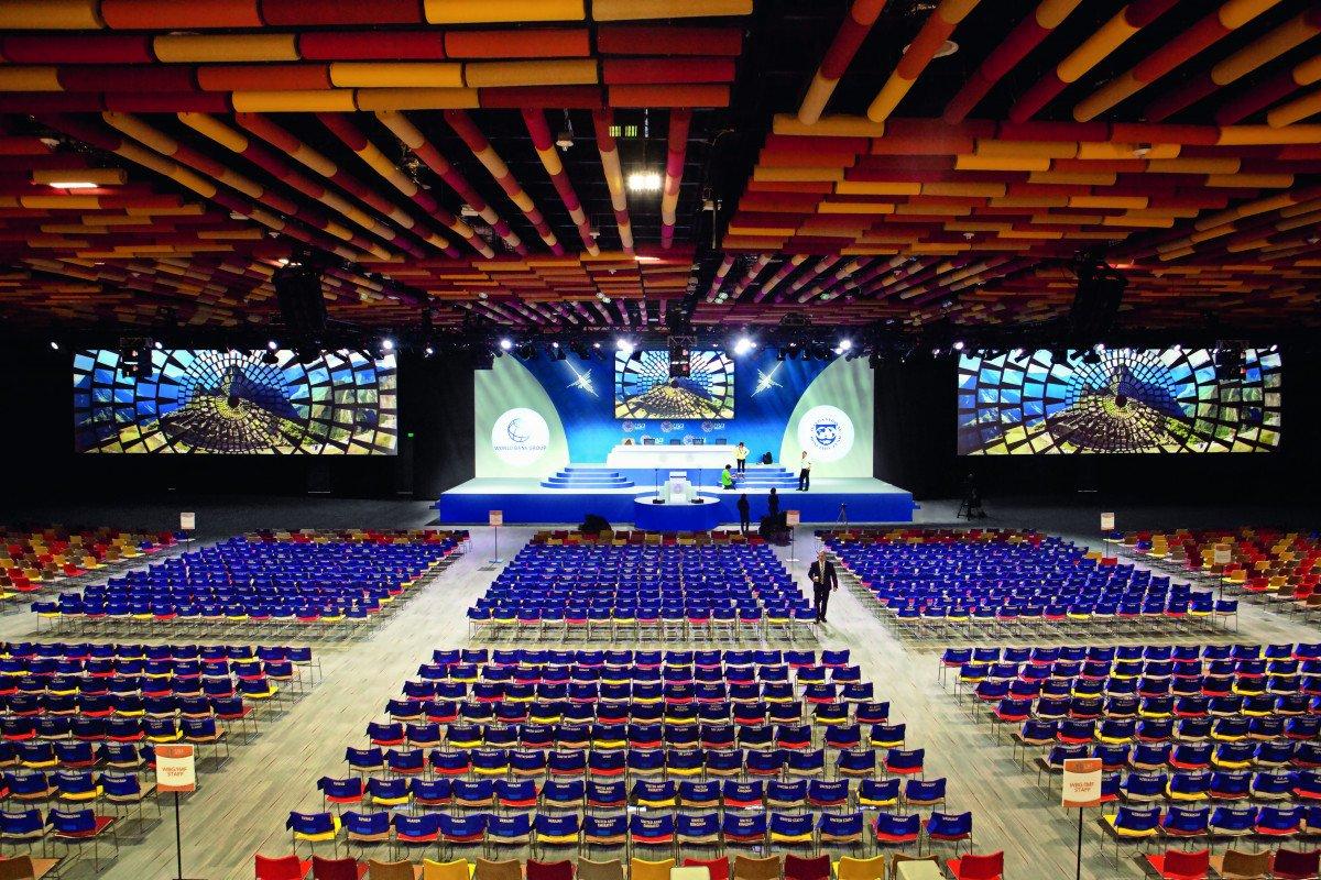 El nuevo centro de convenciones de Lima tiene capacidad para acoger a 10.000 personas.