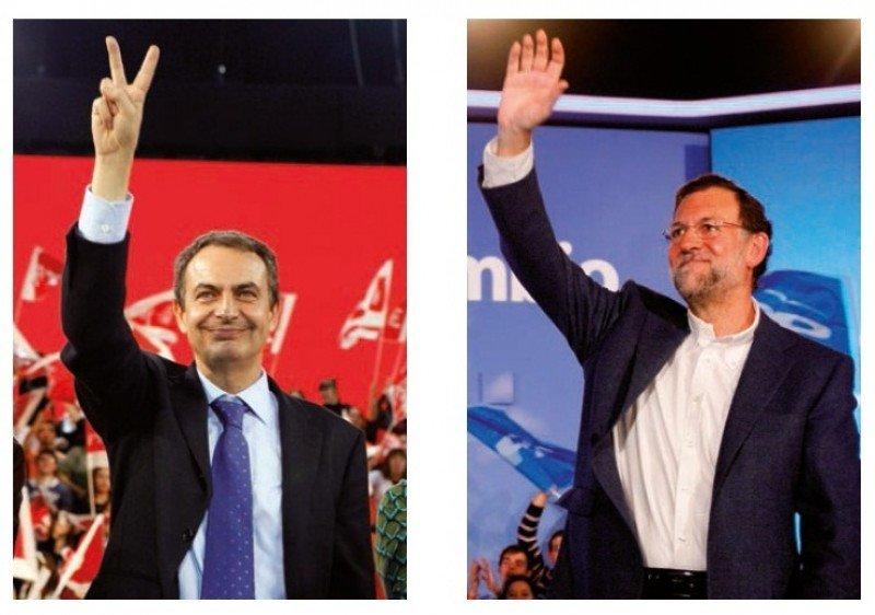 Rodríguez Zapatero pedía en el slogan para su reelección 'vota con todas tus fuerzas'; mientras el de Rajoy, tras dos legislaturas socialistas, planteaba 'súmate al cambio'.