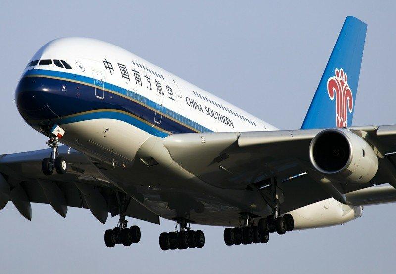 Un Airbus A380 de la aerolínea China Southern. Foto: Wikipedia / Allen Zhao